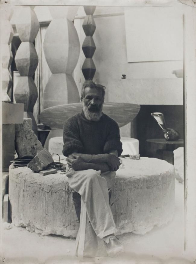 Constantin Brancusi. 'Self-portrait in the studio' c. 1934