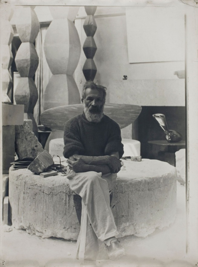 Constantin Brancusi. 'Self-portrait in the studio' c. 1934