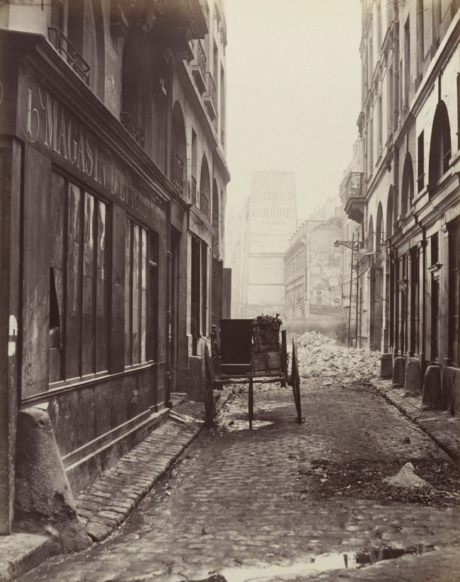 Charles Marville (French, 1813-1879) 'Rue Estienne from the rue Boucher (First Arrondissement)' 1862-65