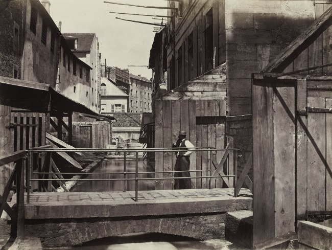 Charles Marville (French, 1813-1879) 'Banks of the Bièvre River at the Bottom of the rue des Gobelins (Fifth Arrondissement)' c. 1862