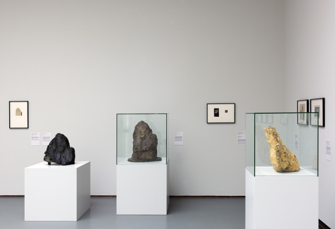 Installation photographs of the exhibition 'Brancusi, Rosso, Man Ray - Framing Sculpture' at Museum Boijmans Van Beuningen, 2014