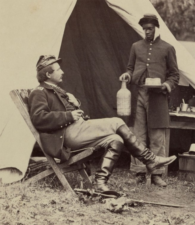 Alexander Gardner (American, Glasgow, Scotland 1821-1882 Washington, D.C.;) 'What Do I Want, John Henry? Warrenton, Virginia' (detail) November 1862