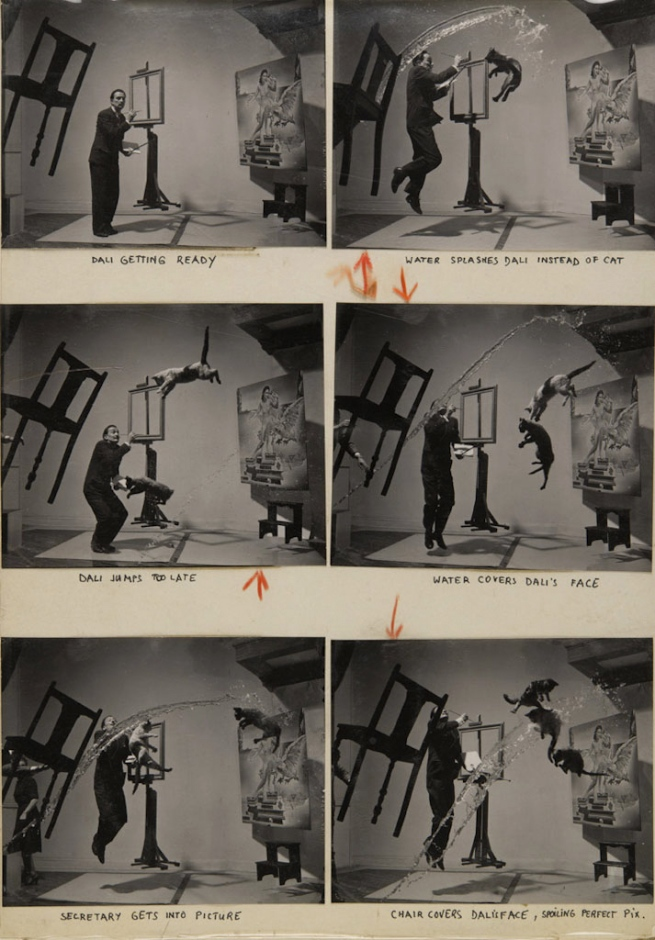 Philippe Halsman. 'Dalí Atomicus' 1948 contact sheet