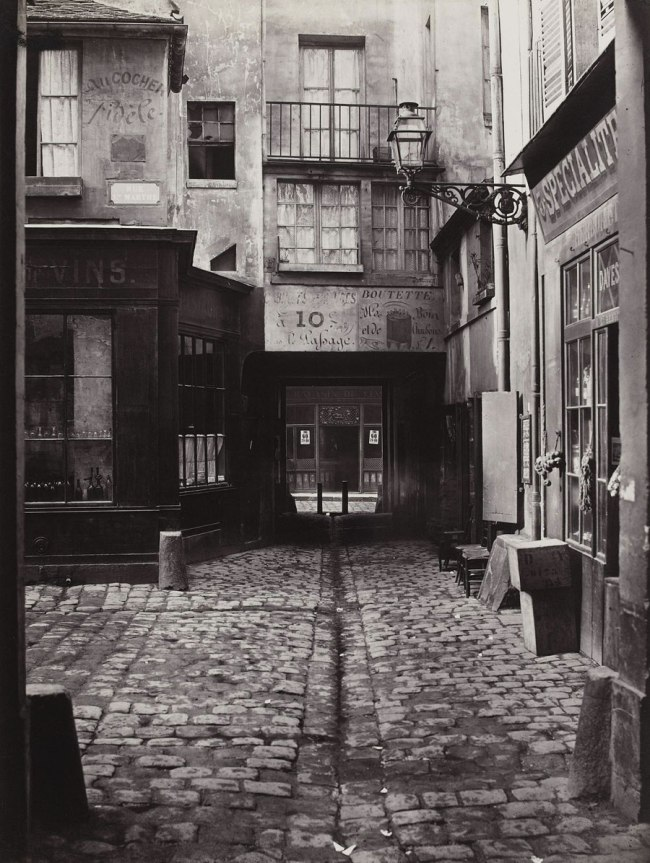 Charles Marville (French, 1813-1879) 'Passage Saint-Benoît (Sixth Arrondissement)' 1864-67