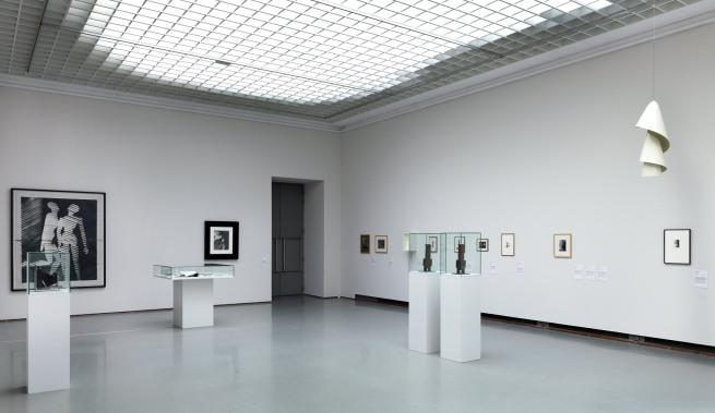 Installation photographs of the exhibition 'Brancusi, Rosso, Man Ray - Framing Sculpture' at Museum Boijmans Van Beuningen, 2014