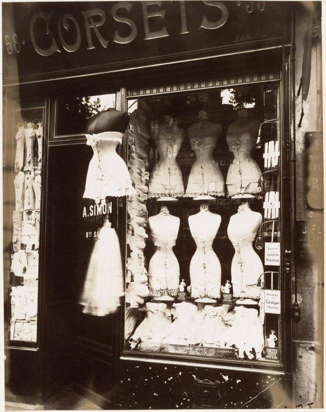 Eugène Atget (French, Libourne 1857–1927 Paris) 'Boulevard de Strasbourg, Corsets, Paris' 1912
