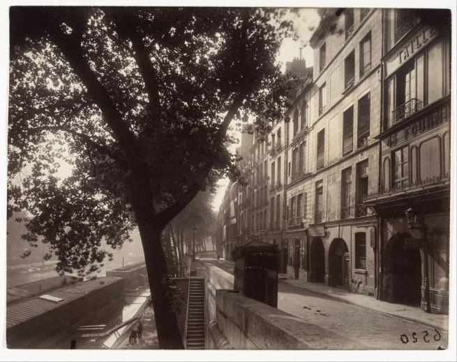 Eugène Atget (French, Libourne 1857–1927 Paris) 'Quai d'Anjou, 6h du matin' 1924
