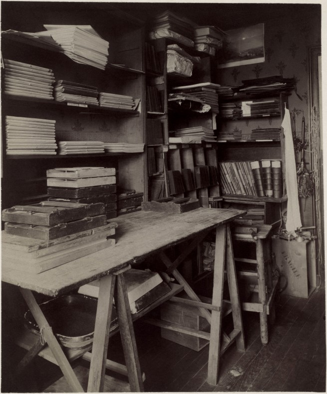 Eugène Atget (French, Libourne 1857–1927 Paris) 'Untitled [Atget's Work Room with Contact Printing Frames]' c. 1910