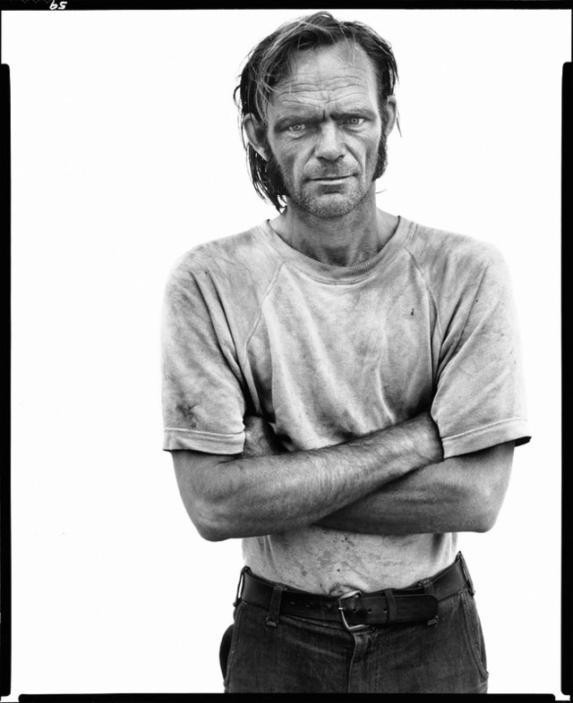 Richard Avedon. 'Bill Curry, drifter, Interstate 40, Yukon, Oklahoma, 6/16/80' 1980