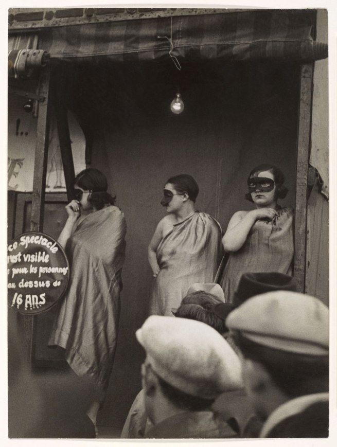 Brassaï (French (born Romania), Brașov 1899-1984 Côte d'Azur) 'Street Fair, Boulevard St. Jacques, Paris' 1931