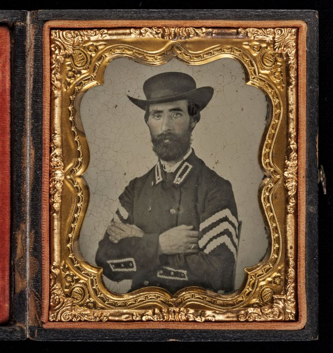 Unknown '[Confederate Sergeant in Slouch Hat]' 1861-62
