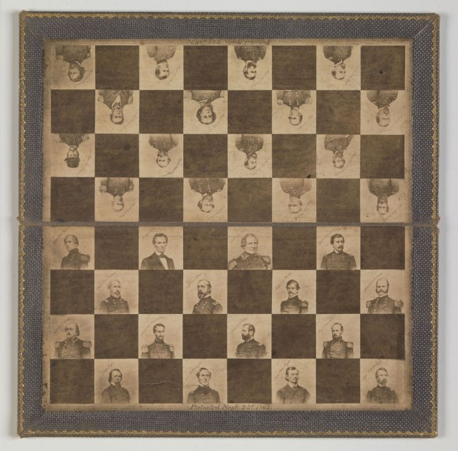Maker: Unknown '[Game Board with Portraits of President Abraham Lincoln and Union Generals]' 1862