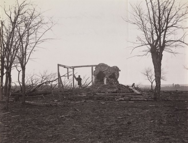 George N. Barnard (American, 1819-1902) 'Ruins of Mrs. Henry's House, Battlefield of Bull Run; Bull Run, Mrs. Henry's House, 21 July 1861' March 1862
