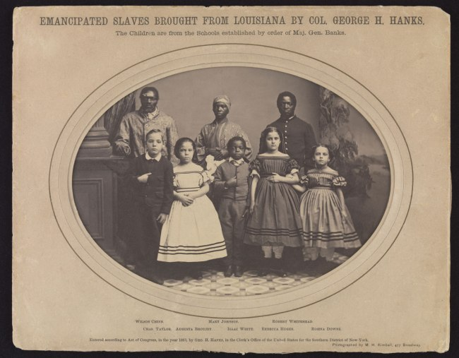 Myron H. Kimball (American, active 1860s) 'Emancipated Slaves Brought from Louisiana by Colonel George H. Banks' December 1863