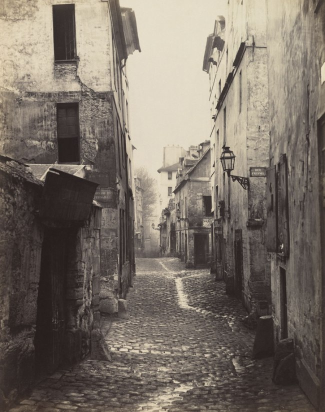Charles Marville (French, Paris 1813–1879 Paris) 'Rue Traversine (from the Rue d'Arras)' c. 1868