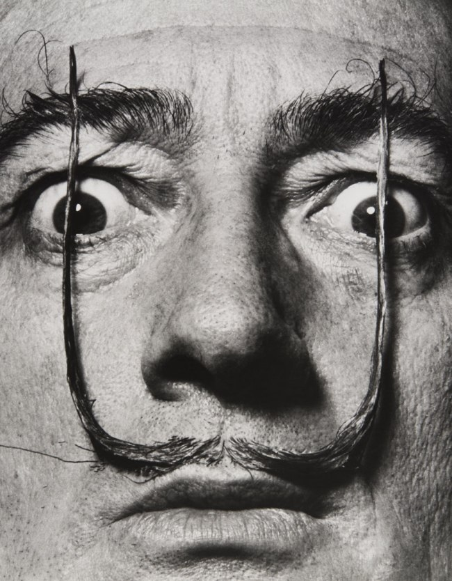 Philippe Halsman. 'Like Two Erect Sentries, My Mustache Defends the Entrance to My Real Self, Dalí's Mustache' 1954