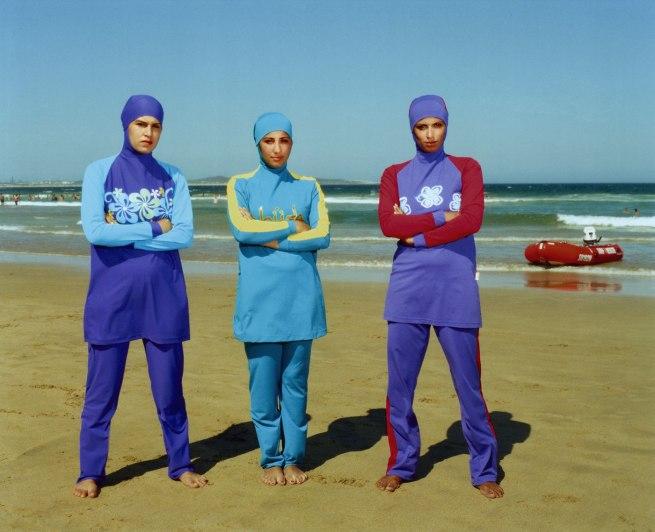 Anne Zahalka (Australia 14 May 1957 – ) 'The girls #2, Cronulla beach' 2007