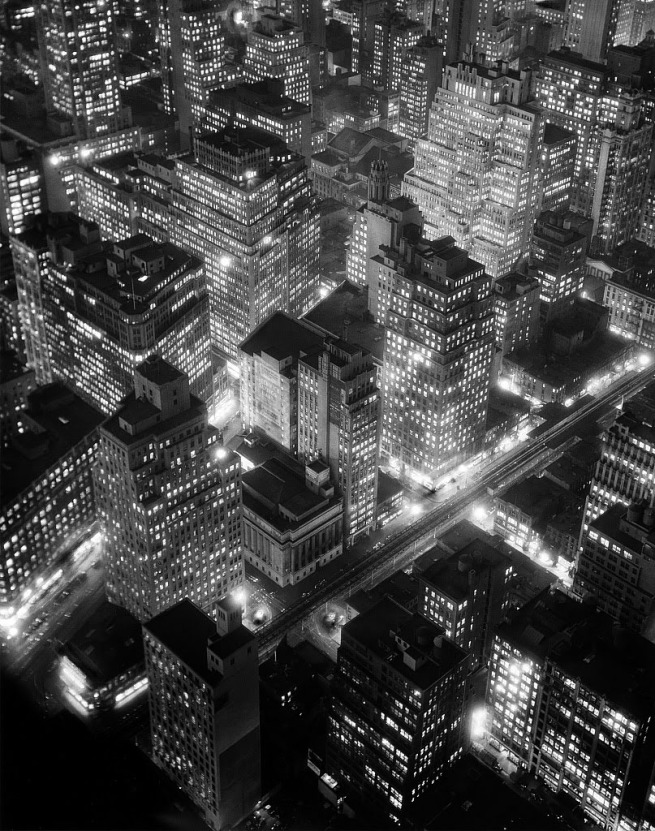 Berenice Abbott (American, 1898 - 1991) 'New York at Night' 1932