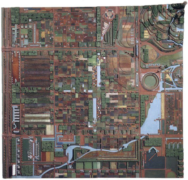 Frank Lloyd Wright (American, 1867-1959) 'Broadacre City Project' 1934-35