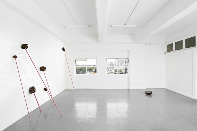 Installation view of 'Standing Stone' by Catherine Evans at BLINDSIDE, Melbourne 2014