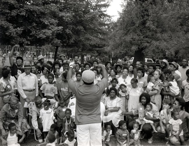 Carrie Mae Weems. 'Family Reunion' (from 'Family Pictures and Stories') 1978-84