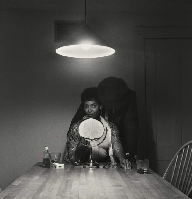 Carrie Mae Weems. 'Untitled (Man and mirror)' (from 'Kitchen Table Series') 1990