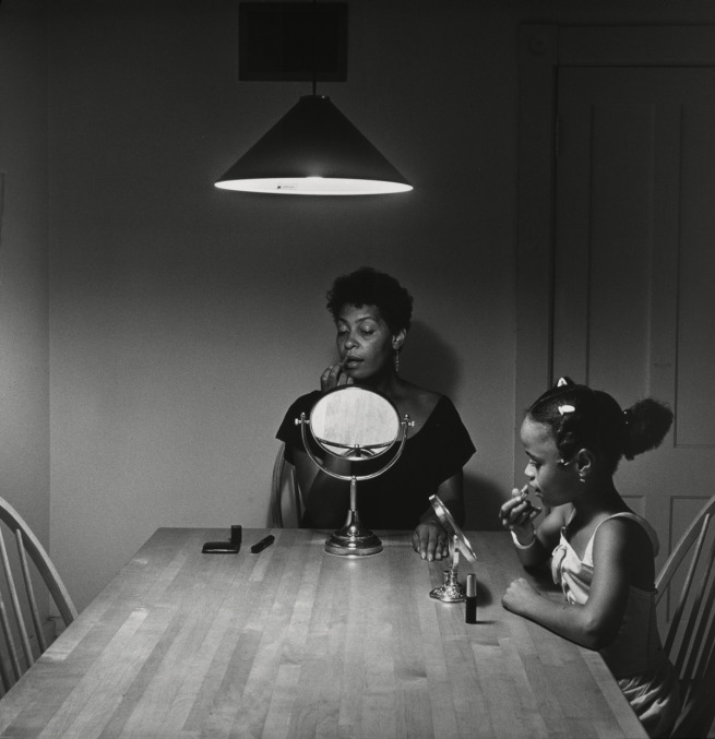 Carrie Mae Weems. 'Untitled (Woman and daughter with makeup)' (from 'Kitchen Table Series') 1990