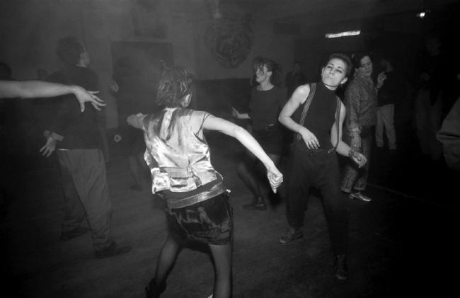 Rennie Ellis. 'Dancing People, Razor Club' 1991