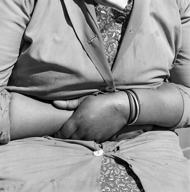 David Goldblatt (1930 Randfontein) 'Child minder, Joubert Park, Johannesburg, 1975 (no.11)' 1975