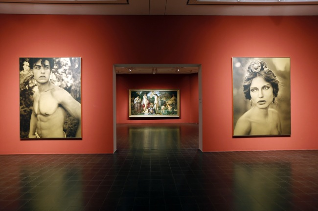 Installation view of 'Feuerbach's Muses - Lagerfeld's Models' at Hamburger Kunsthalle