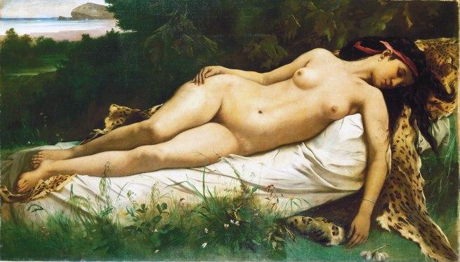 Anselm Feuerbach. 'Ruhende Nymphe [Resting Nymph]' 1870