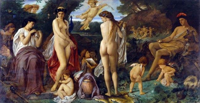 Anselm Feuerbach. 'Das Urteil des Paris [The Judgement of Paris]' 1870