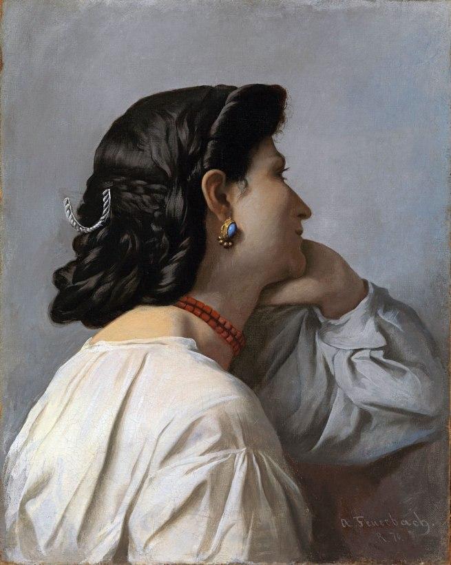 Anselm Feuerbach. 'Studienkopf zur Stuttgarter Iphigenie [Study of a Head for Stuttgart Iphigenia]' 1870
