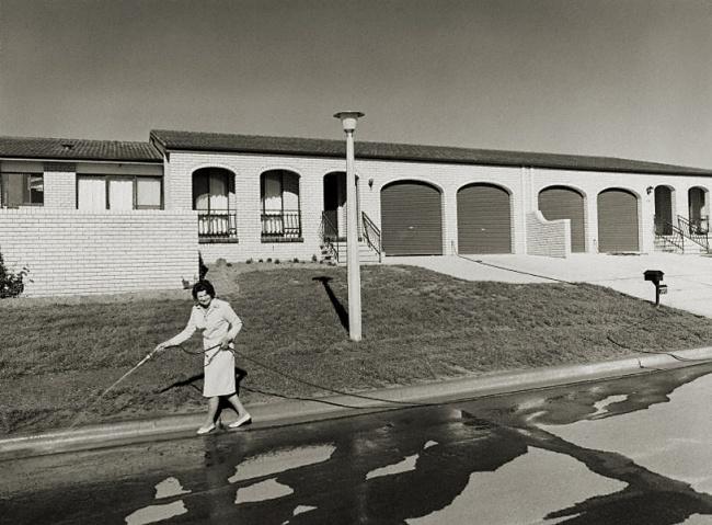 Gerrit Fokkema (Papua New Guinea, Australia, b. 1954) 'Woman hosing, Canberra' 1979