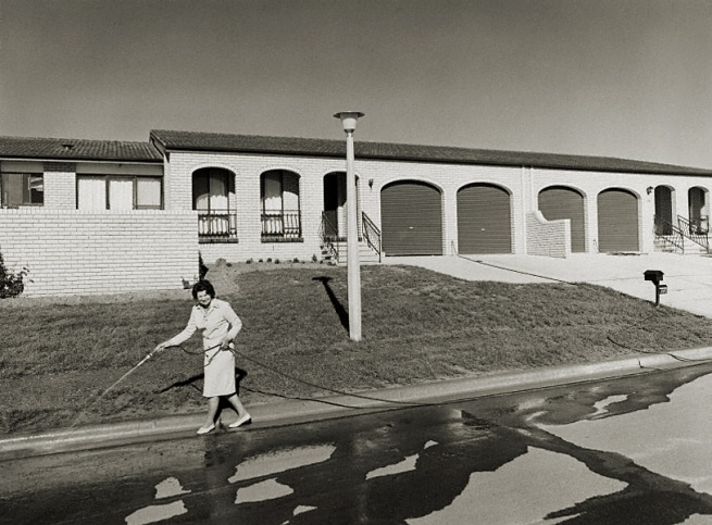 Gerrit Fokkema (Papua New Guinea, Australia 1954 - ) 'Woman hosing, Canberra' 1979