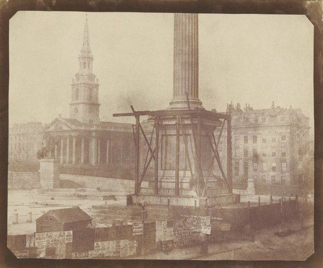 William Henry Fox Talbot (English, 1800-1877) 'Nelson's Column under Construction in Trafalgar Square, London' April 1844