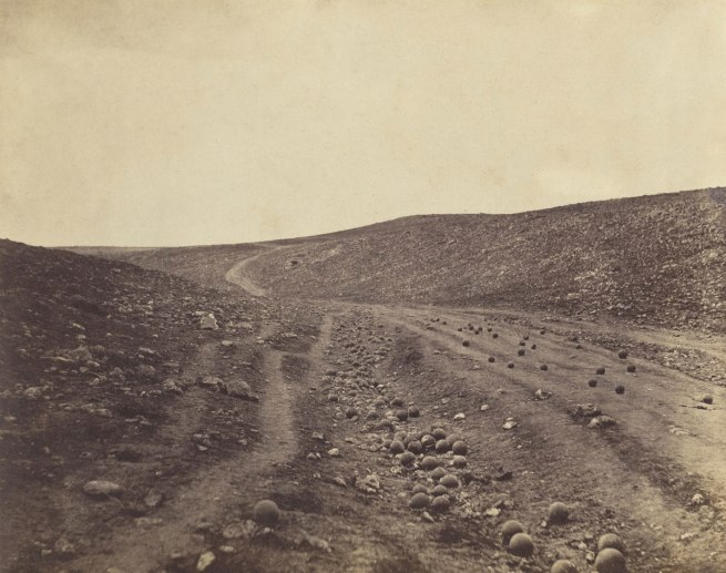 Roger Fenton (English, 1819-1869) 'Valley of the Shadow of Death' April 23, 1855