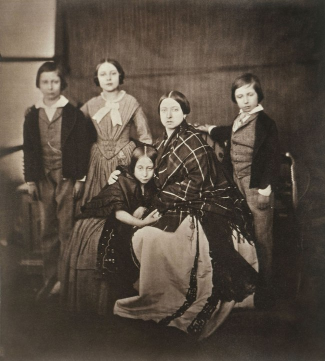 Roger Fenton (English, 1819-1869) 'The Prince of Wales, the Princess Royal, Princess Alice, the Queen, Prince Alfred' Negative February 8, 1854