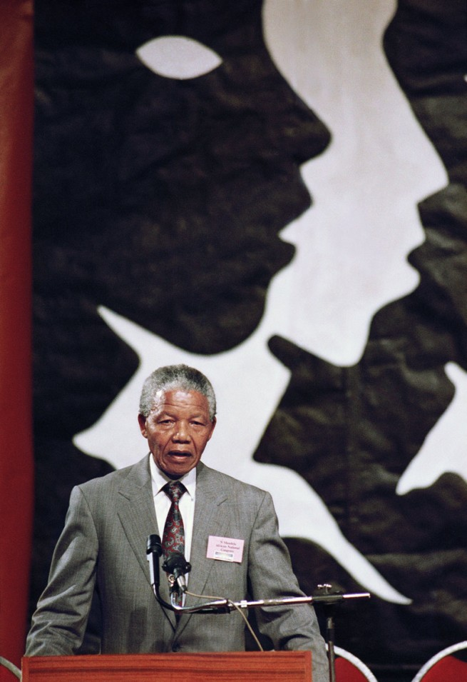 Graeme Williams (1958 Johannesburg) 'Nelson Mandela speaks at CODESA, 199..?' Nd