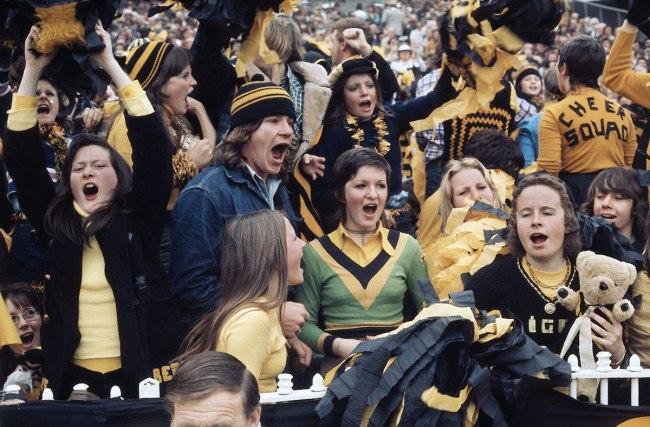 Rennie Ellis. 'Richmond fans, Grand Final, MCG' 1974