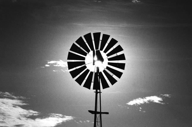 Santu Mofokeng (1956 Soweto) 'Windmill, Vaalrand' 1988