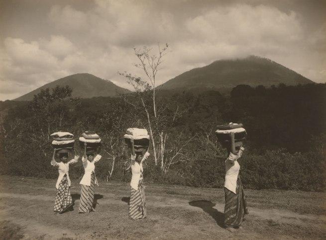 S. Satake Japanese, working Indonesia 1902 - c. 1937 'Women on road to Buleleng Bali' c. 1928