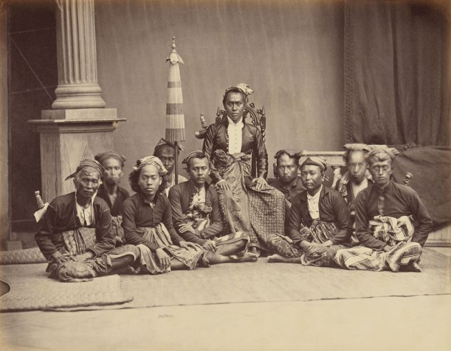 Woodbury & Page established Jakarta 1857-1900 'Gusti Ngurah Ketut Jelantik, Prince of Buleleng with his entourage in Jakarta in 1864 on the visit of Governor-General LAJW Sloet van de Beele' 1864