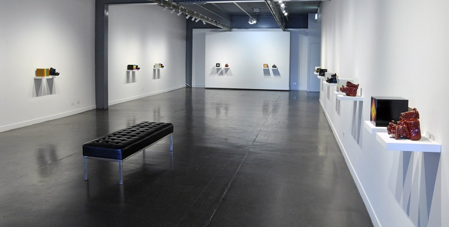 Installation view of the exhibition 'Polaroid Project' at Arts Project Australia, Melbourne