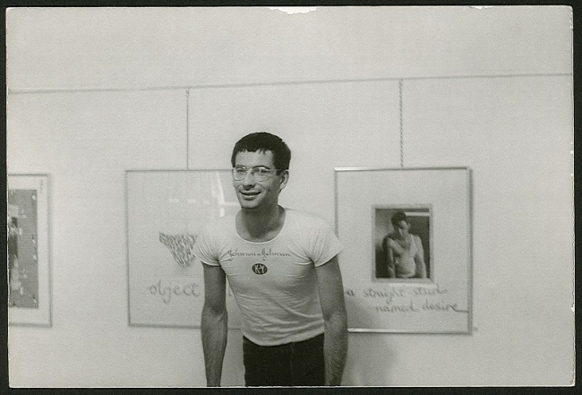 Unidentified photographer. 'David McDiarmid at his first one-man show 'Secret Love', Hogarth Gallery, Sydney, 1976' 1976