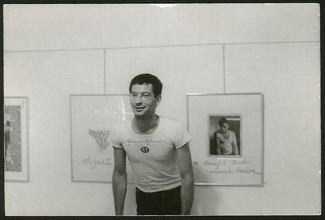 Unidentified photographer. 'David McDiarmid at his first one-man show 'Secret Love', Hogarth Gallery, Sydney, 1976' 1976
