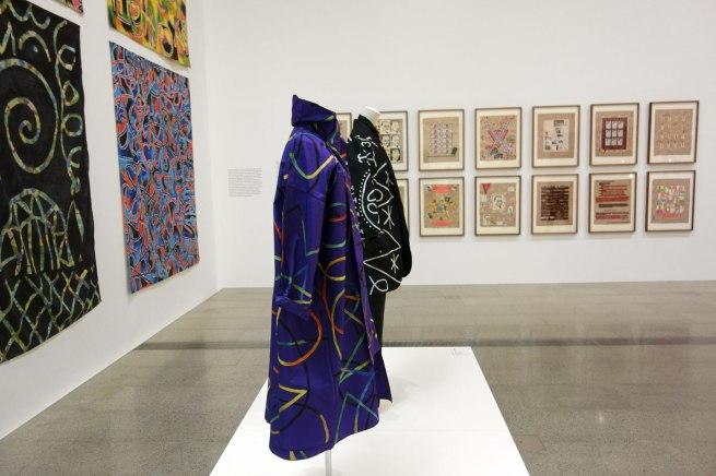 Bush Couture, Sydney (fashion house) Linda Jackson (designer) David McDiarmid (painter) 'Paua kimono' 1984