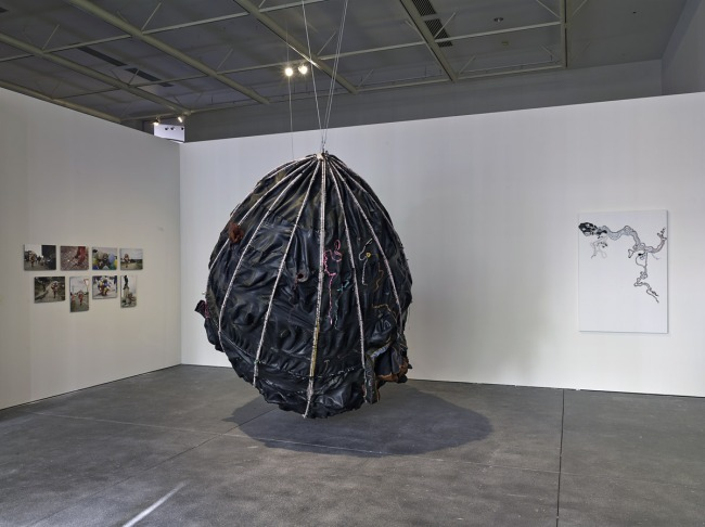 Installation view of the exhibition 'Public Intimacy: Art and Other Ordinary Acts in South Africa' at the Yerba Buena Center for the Arts, San Francisco