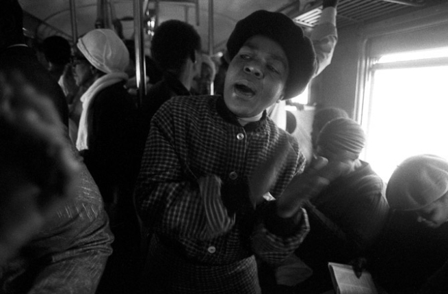 Santu Mofokeng. 'Leading in Song, Johannesburg - Soweto Line' 1986