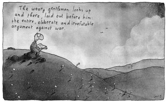 Michael Leunig. 'The weary gentleman' 2014